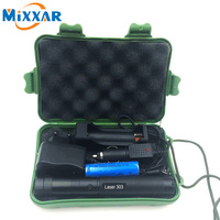 RU ZK30 5000mw Laser Pointer Laser 303 Green Adjustable Focal Length With Star Pattern Filter 18650