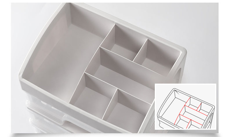 Plastic Cosmetic Storage Box to Organize Makeup with Drawers for Dressing Table of Women 15
