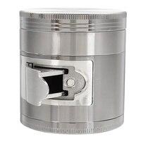 4 layers Metal Smoke Smoking Tobacco Herb Grinder Cigar Cigarette Crusher Hand Muller Zinc Alloy Multi Functional 63MM 2.48
