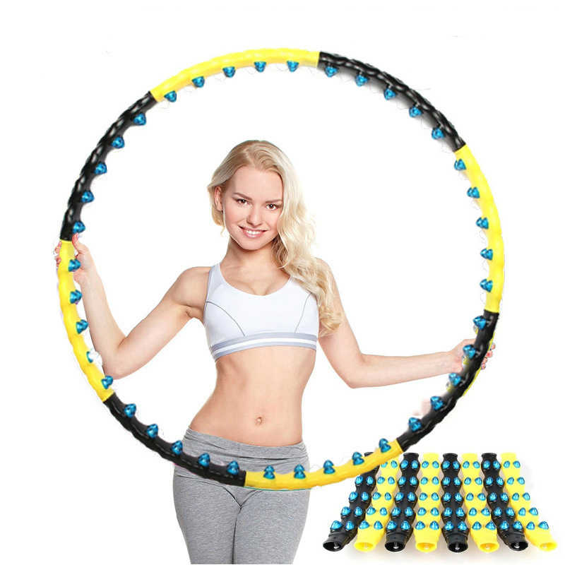 PENGROAD Double Row Magnet Sport Hoop Fitness Massage 7/8 Parts Magnetic Fitness Hoop Workout Exercise Ring Circle Equipments