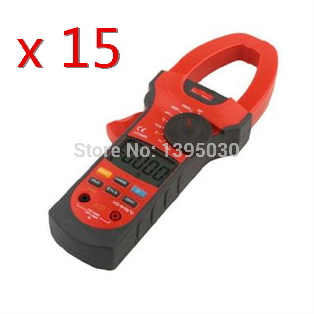 ФОТО  15PCS/Lot Hot Sale UT208A Clamp Mini Power Digital Multimeter AC DC Volt/Amp/Ohm Capacitance Tester