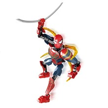 Marvel Avengers Super Heroes New Spider Man Thanos Compatible with Legoings Building Blocks SpiderMan Figure Brick Venom Toys клещи jtc 1353