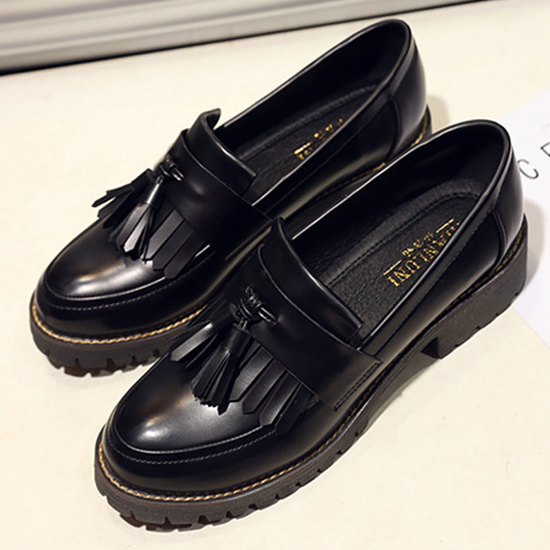 Oxford shoes for women sneakers genuine leather shoes fringe adult synthetic female shoes sapato feminino plus size 34-42Oxford shoes for women sneakers genuine leather shoes fringe adult synthetic female shoes sapato feminino plus size 34-42