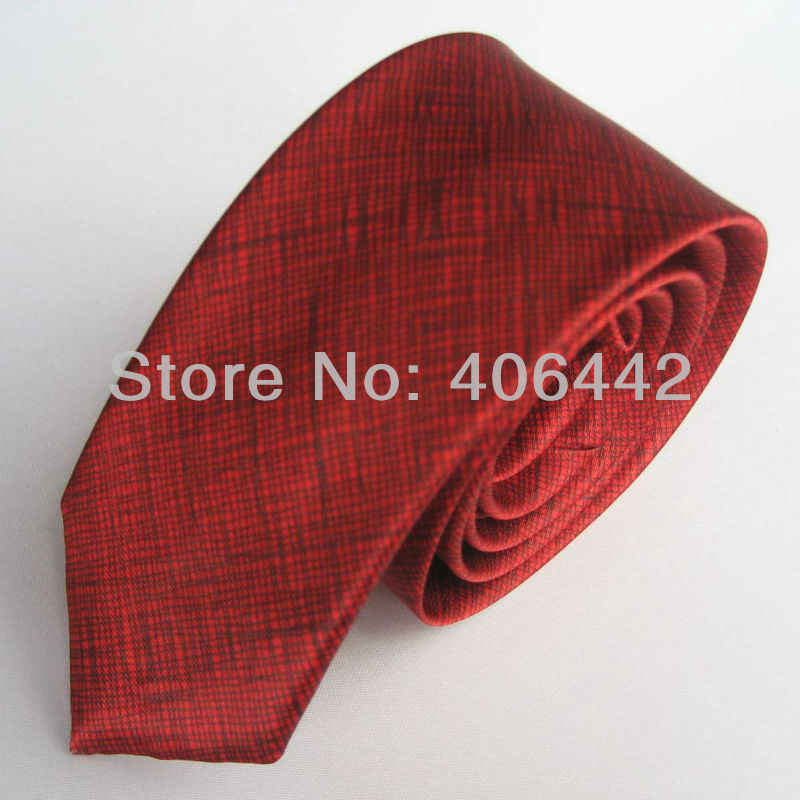 """2 """"polyester SLIM PERSEMPIT DASI Kasual KURUS tie Mode Dasi dasi Merah untuk mencocokkan kemeja"""