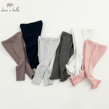 DB3033 dave bella autumn newborn baby unisex girls boys knitted pants 6M-6T pants children toddler trousers