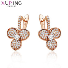 Xuping Fashion Earrings Top Sale High Quality European Style Charm Design Gold Color Plated Costume Jewelry 90012(China)