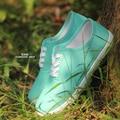 De las mujeres zapatos casuales 2016 de la moda de Los Planos de las mujeres zapatos de lona blanca
