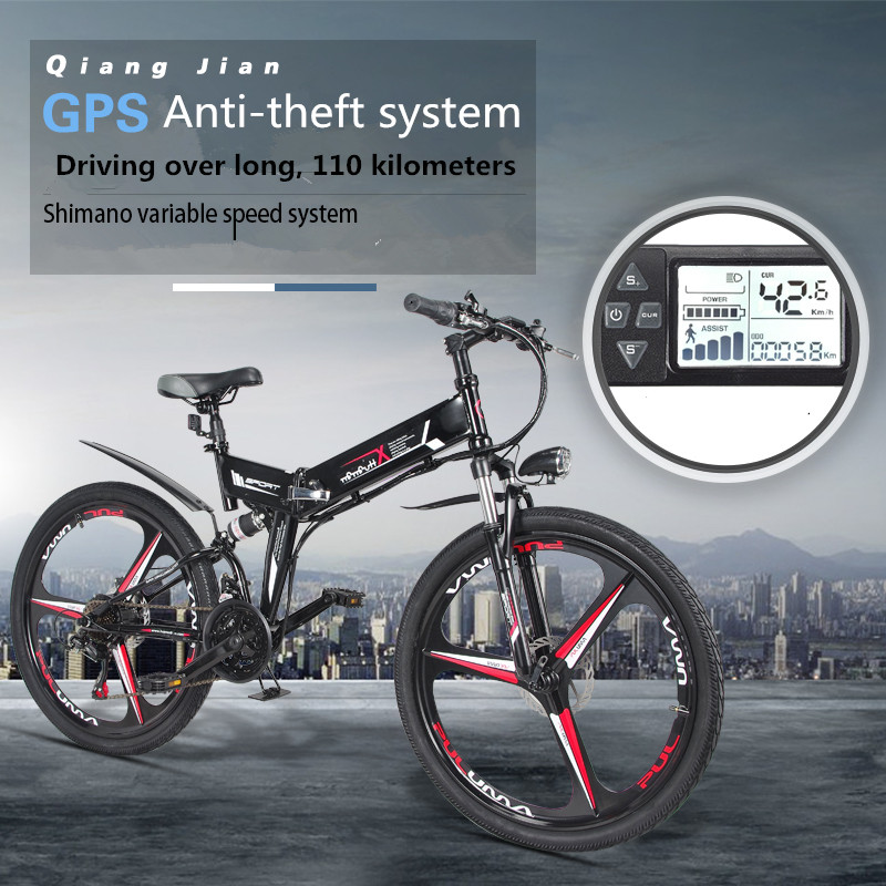 Nouveau Vélo Électrique 24 Vitesse 10AH 36 v 350 w Intégré batterie Au Lithium E vélo électrique 26 Hors route électrique vélo Pliant