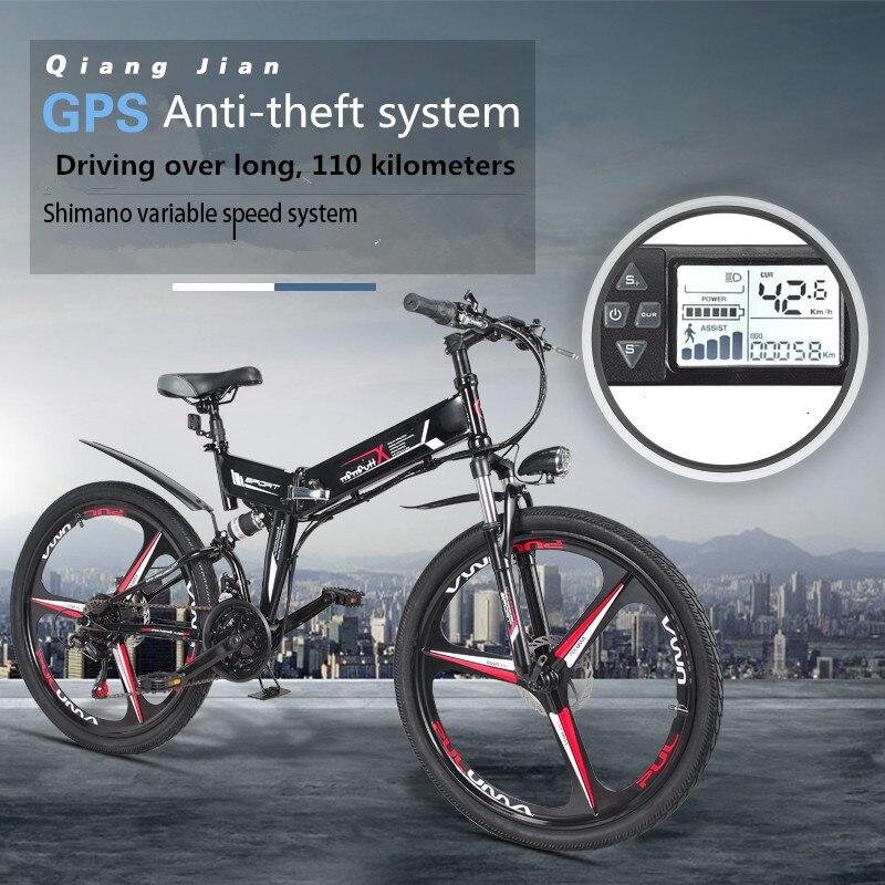 Nuova Bici Elettrica 24 Velocità 10AH 36 v 350 w Built-In batteria Al Litio E bici elettrica 26