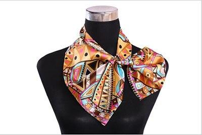 US $6 76 |Business attire scarf enterprises/bank/stewardess uniform  decoration changed printing fashion square/customer service-in Women's  Scarves