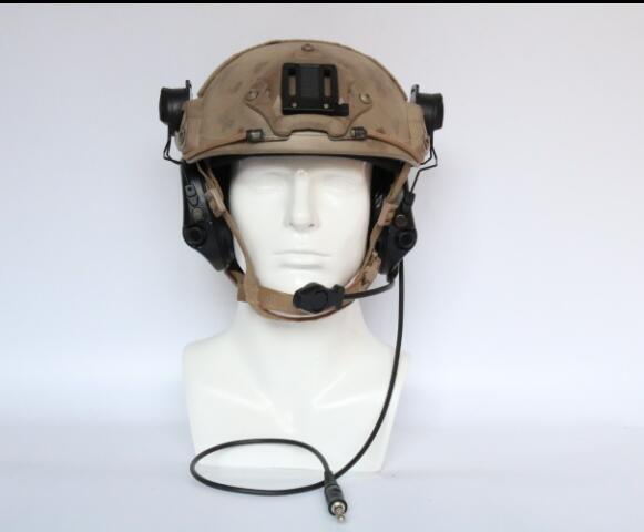 Image 3 - TAC SKY SORDIN Helmet fast rail bracket Silicone earmuff version Noise reduction pickup headset BK