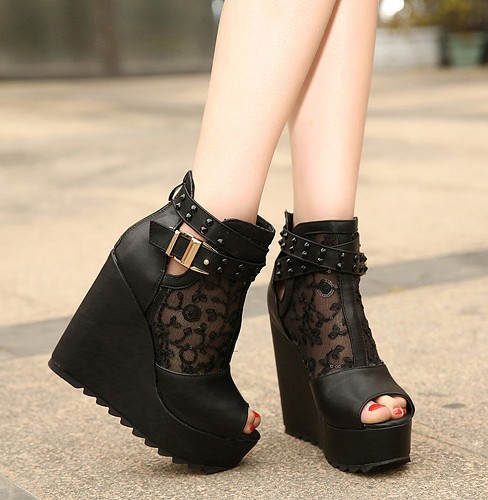 Aliexpress.com : Buy New shoes 2014Sexy Black Summer boots ...