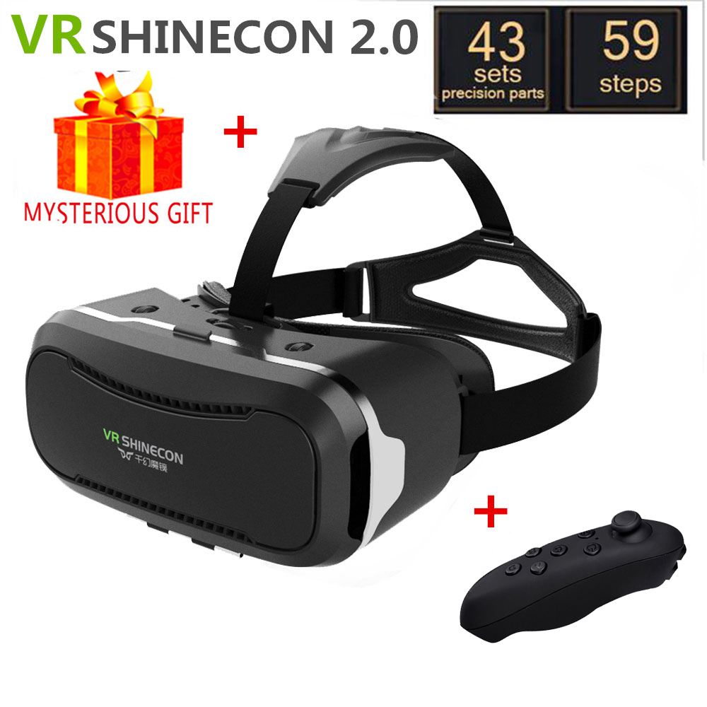 VR Shinecon 2.0 2 II Box Headset Video 3 D 3D Virtual Reality Glasses Goggles Smartphone Helmet Smart Len Google Cardboard Vrbox