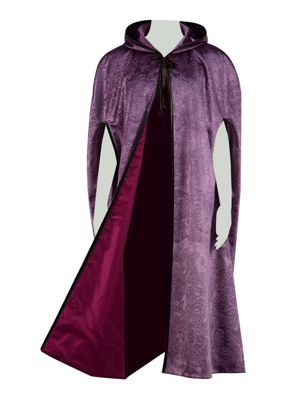 Halloween Party Cosplay Cloak Witch Medieval Hooded Vampire Cape Robe Theme Party Show Costume