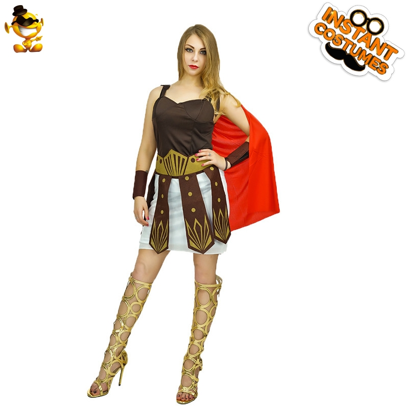 DSPLAY Carnival Sexy Women Fighter Fancy Dress Original New Design Warrior Outfits Deluxe Fashion Roman Crusader Party Costume