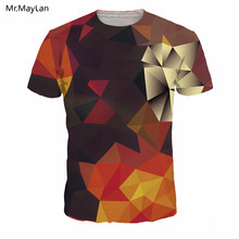 Hipster 3D Print Multi-color Argyle T-shirt Men/Women Hiphop Streetwear Crewneck Tee T shirt Boys Summer Fashion Tshirt Clothing