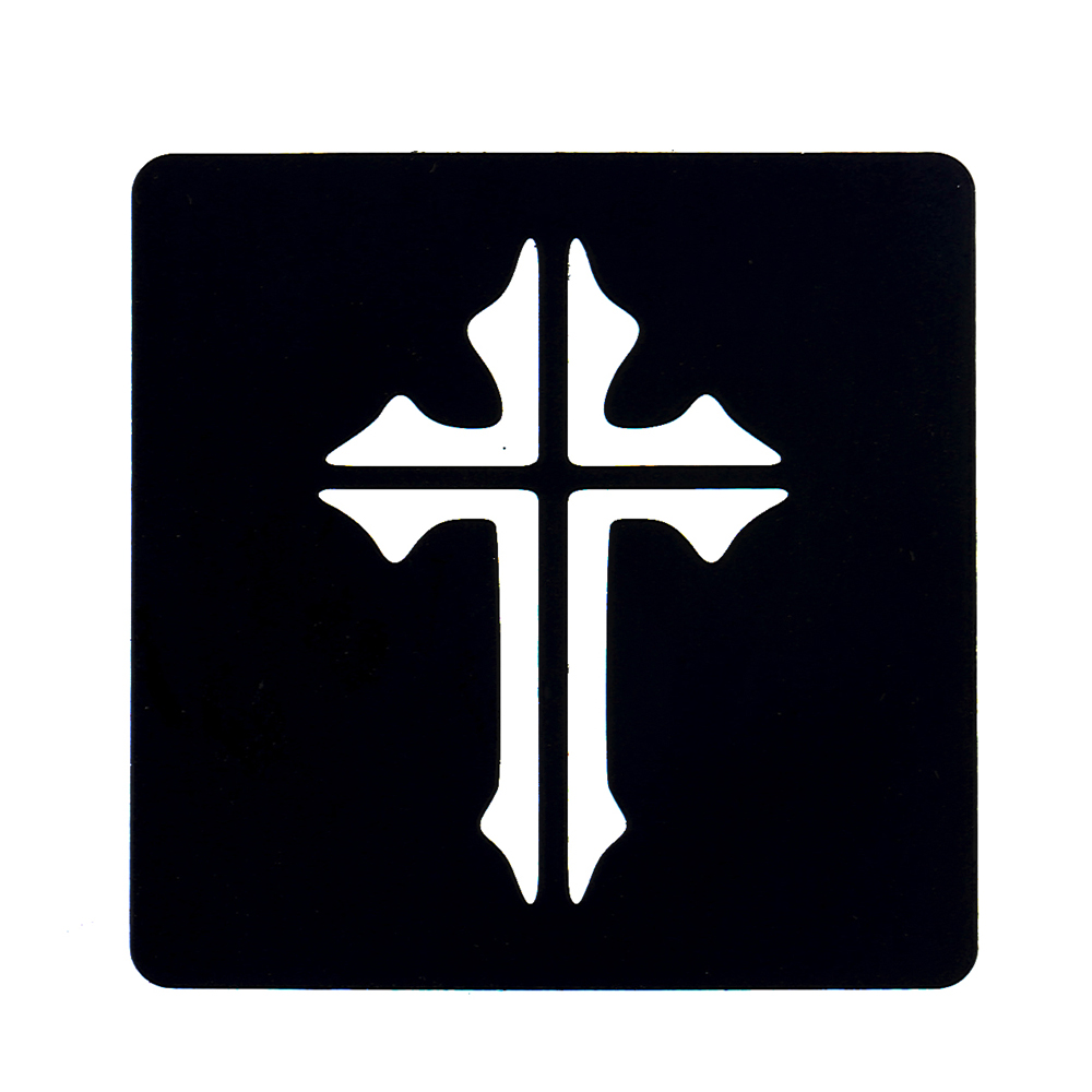 1pc Henna Stencil Cross Jesus Picture Sexy Women Body Finger Neck Face Art Tattoo Template DIY Makeup Drawing Product Design G70