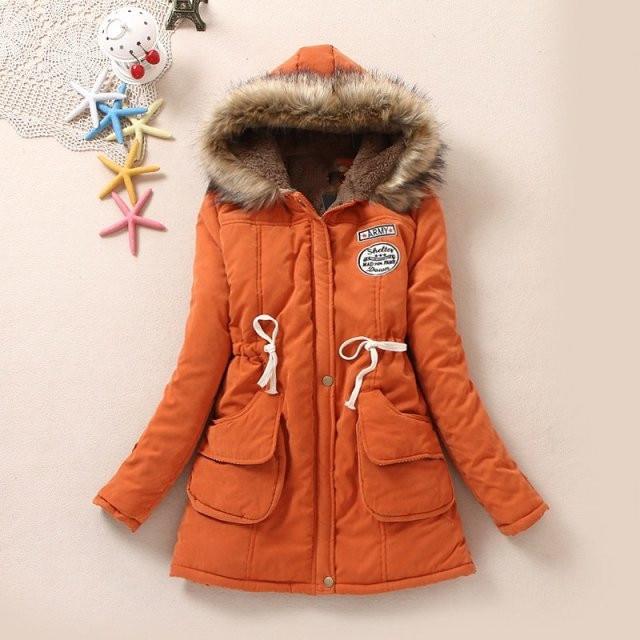 d8b7b037139 2018 New Long Sleeves Parkas Female Womens Winter Jacket Coat Thick Cotton Warm  Jacket Womens Outwear Parkas Plus Size Fur Coat-in Parkas from Women s ...