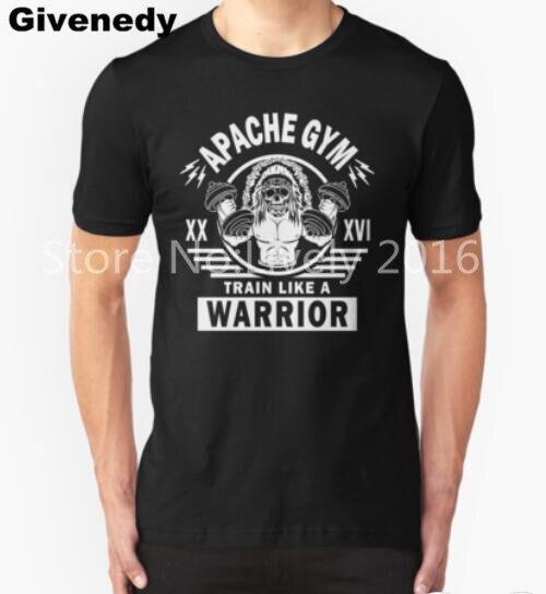 2016 Neuheiten herren Lustige Apache Zug Wie Ein Krieger Gedruckt t-shirt Hipster...