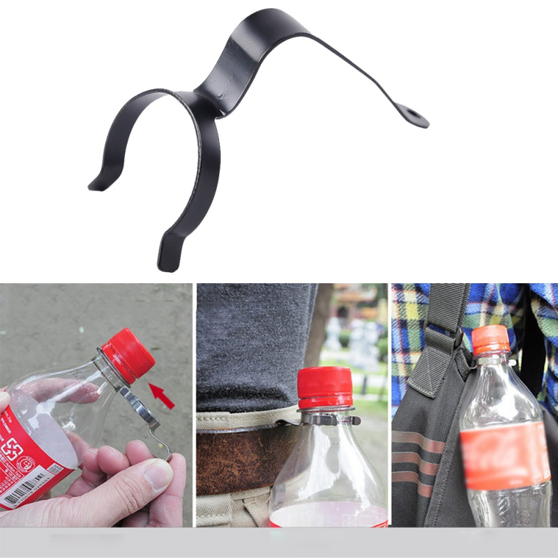 Outdoor Water Bottle Holder Clip Stainless Steel Hanging Hook Backpack Hanger