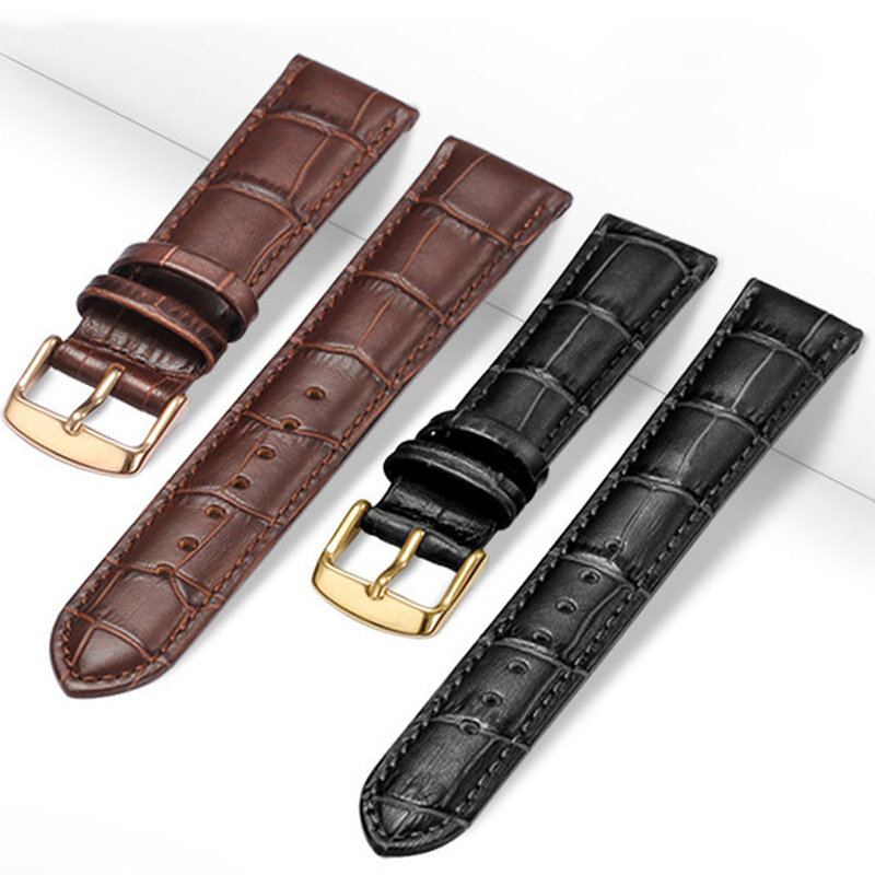 Universal Replacement  Leather Watch Strap Leather Watchband for Men Women 12mm 14mm 16mm 18mm 19mm 20mm 21mm 22mm Watch Band brompton stickers