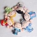 Hot! famial quentes 6 pcs crianças plush pano play saiba história do jogo da família finger puppets brinquedos nova venda