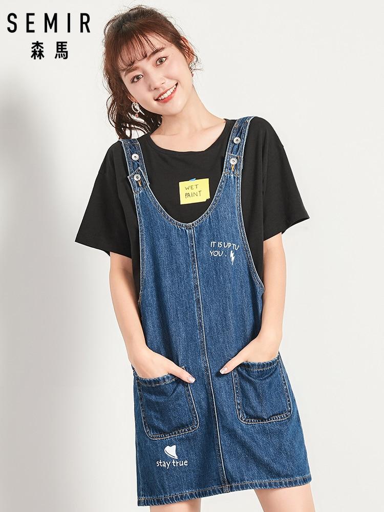 a0338a43968c9 SEMIR sexy casual denim skirt sleeveless strap button pocket jeans skirt  midi summer outfits for women