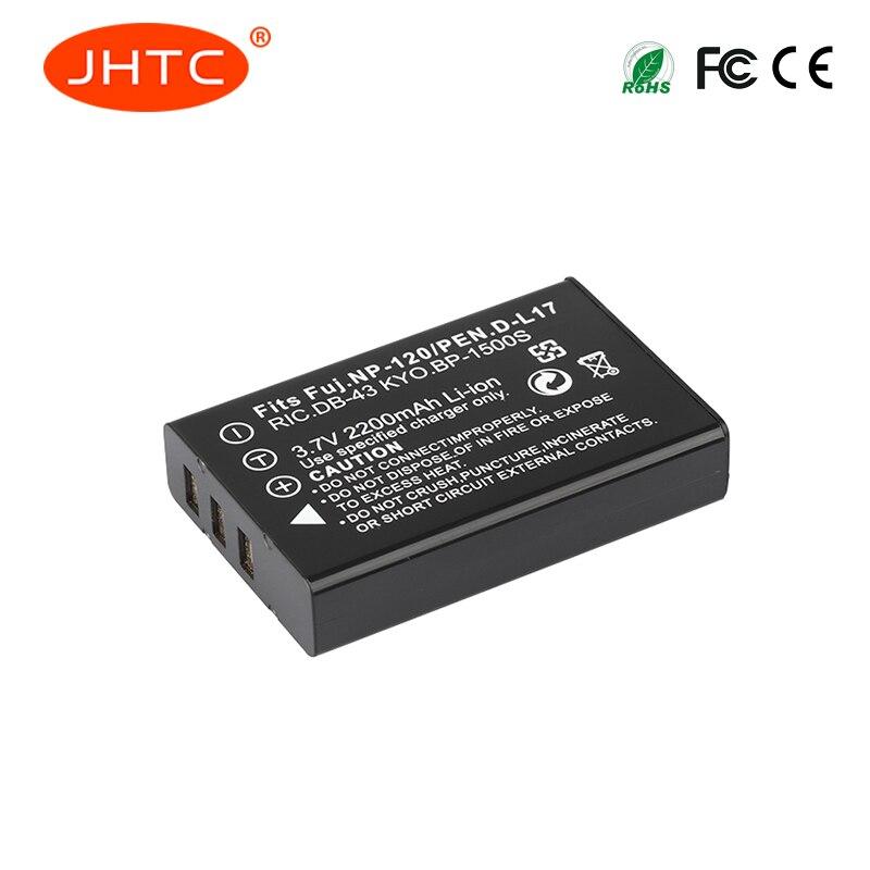 Bateria da câmera de jhtc 2200 mah NP-120 fnp120 np120 para fujifilm finepix f10 f11 zoom m603 mx4 603 baterias bateria celular