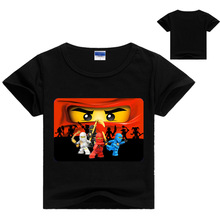 3-13Y Children Summer t shirt girls boys Clothes Ninjago Clothing Ninja Cartoon Cotton Tshirt  ninja go Tops Tees 2017 New