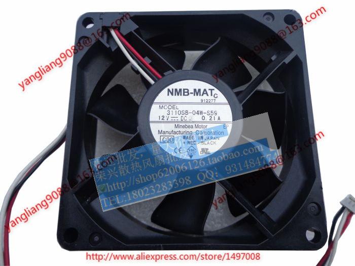 Free Shipping For  NMB 3110SB-04W-S56, C00 DC 12V 0.21A, 80x80x25mm 3-wire 80mm Server Cooling Square fan горелка sb 2403 00 м esg 112p882a30