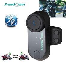 Frete grátis!! Freedconn T COMVB original bt bluetooth capacete da motocicleta interfone fone de ouvido bt interfone com rádio fm