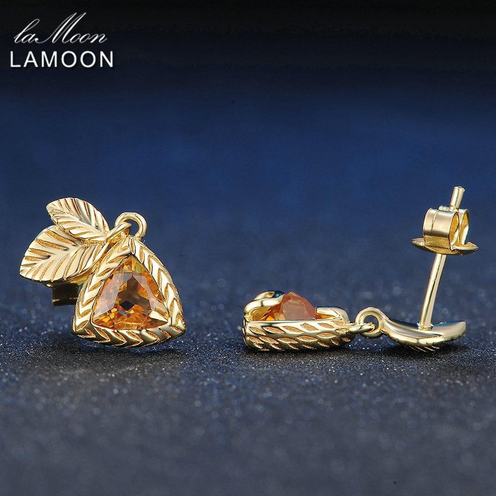 LAMOON Elegante Ohrringe Für Frauen 2ct 100% Natürlichen Edelstein - Edlen Schmuck - Foto 3