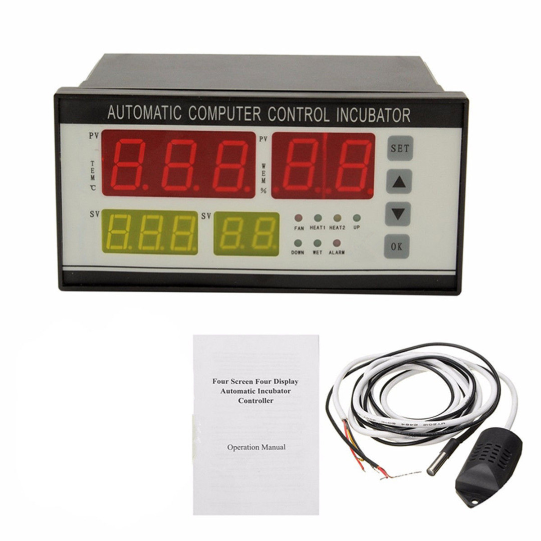 Digital Automatic Incubator Controller Air Temperature Humidity Controller for Chickens Egg Brooder Temperature Controller 220v digital air humidity control controller wh8040 range 1