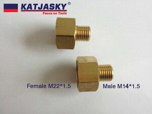 Image 1 - 100% kupferverbinder, adapter für auto waschschlauch oder gun Männlichen M14 * 1,5, weibliche M22 * 1,5