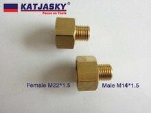 100%ทองแดงเชื่อมต่อ,อะแดปเตอร์สำหรับท่อเครื่องซักผ้ารถหรือปืนชายM14 * 1.5,หญิงM22 * 1.5