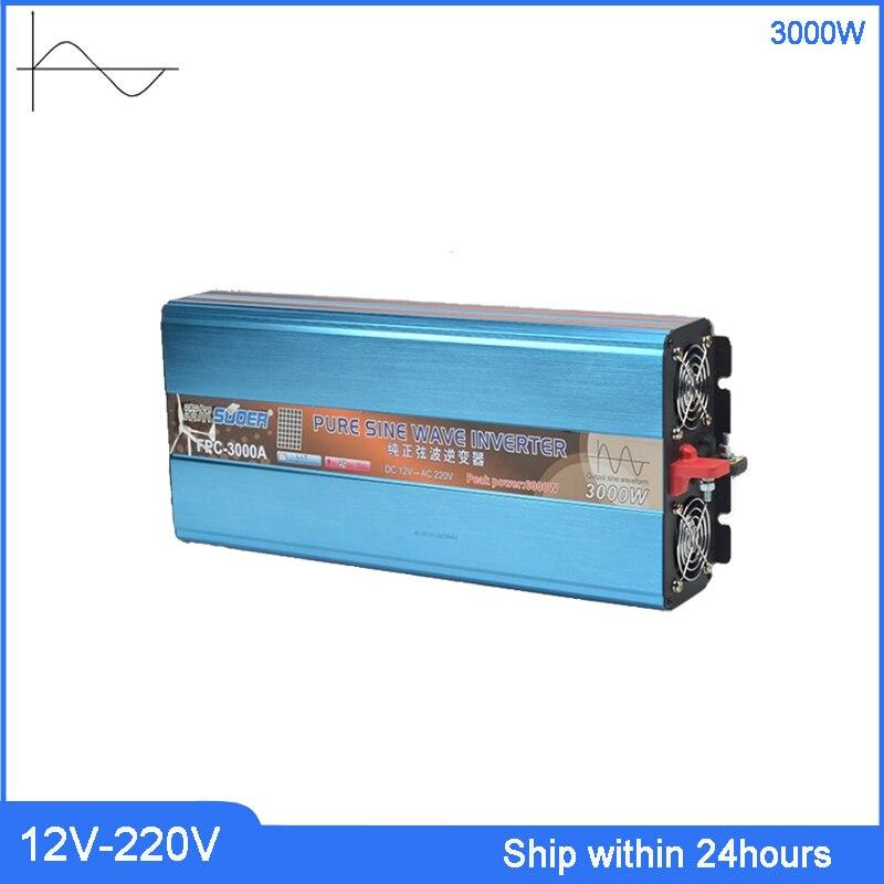 3000 W onduleur haute puissance DC 12 V à AC 220 v onduleur/camion avec Port USB 5 V/prise personnalisée transformateur à onde sinusoïdale Pure