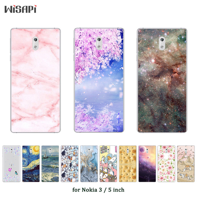 classic fit d12ae 1d087 US $1.13 48% OFF|For Nokia 3 Back Cover Fashion Printed Shell Fundas Coque  For Nokia3 Case Soft Silicone Bags For Nokia 3 5.0''Phone Capa-in Fitted ...