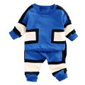 roupas de bebe Spring Baby Boys Patchwork Kid Boy Shirt Tops + Casual Pants Two Pieces Suits Kids Clothing Set conjunto infantil