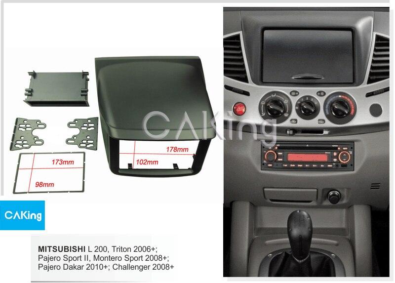 Single Double Din Fascia Radio Panel for MITSUBISHI L200 Triton 2006 2015 Dash Fitting Kit Facia
