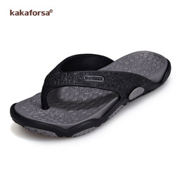 Kakaforsa homens chinelos de verão chinelos moda ao ar livre respirável praia sandália homem flip flop sapatos masculinos chinelo interior para o menino