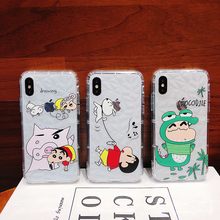 Cartoon Crayon Shin-chan Soft TPU Case For iPhone XS XR XS MAX Anti-knock Case For iPhone X 6 6S 7 8 Plus Case цена и фото