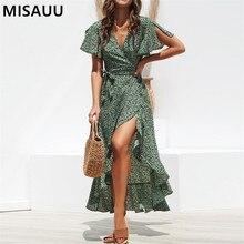 Sexy Beach Summer Dress Women Boho Long Maxi Bandage Elegant Polk Dot 2019 Bohemian Sundress Plus Size
