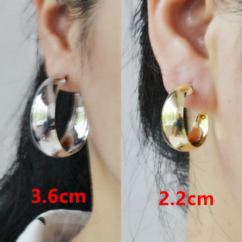 Kvinnelige C-formede dråpeøreringer for legeringsmateriale for kvinner Mote Big Rose gold Silver Circle Youth Sexy Popular Dangle earrings