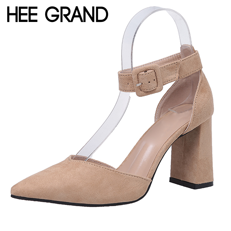 HEE GRAND 2017 New High Heels Summer Gladiator Sandals Wedding Shoes Woman Pointed Toe Casual Pumps Sexy Women Shoes WXG414 hee grand 2017 gladiator sandals gold silver shoes woman summer platform wedges glitters high heels casual women shoes xwz4018
