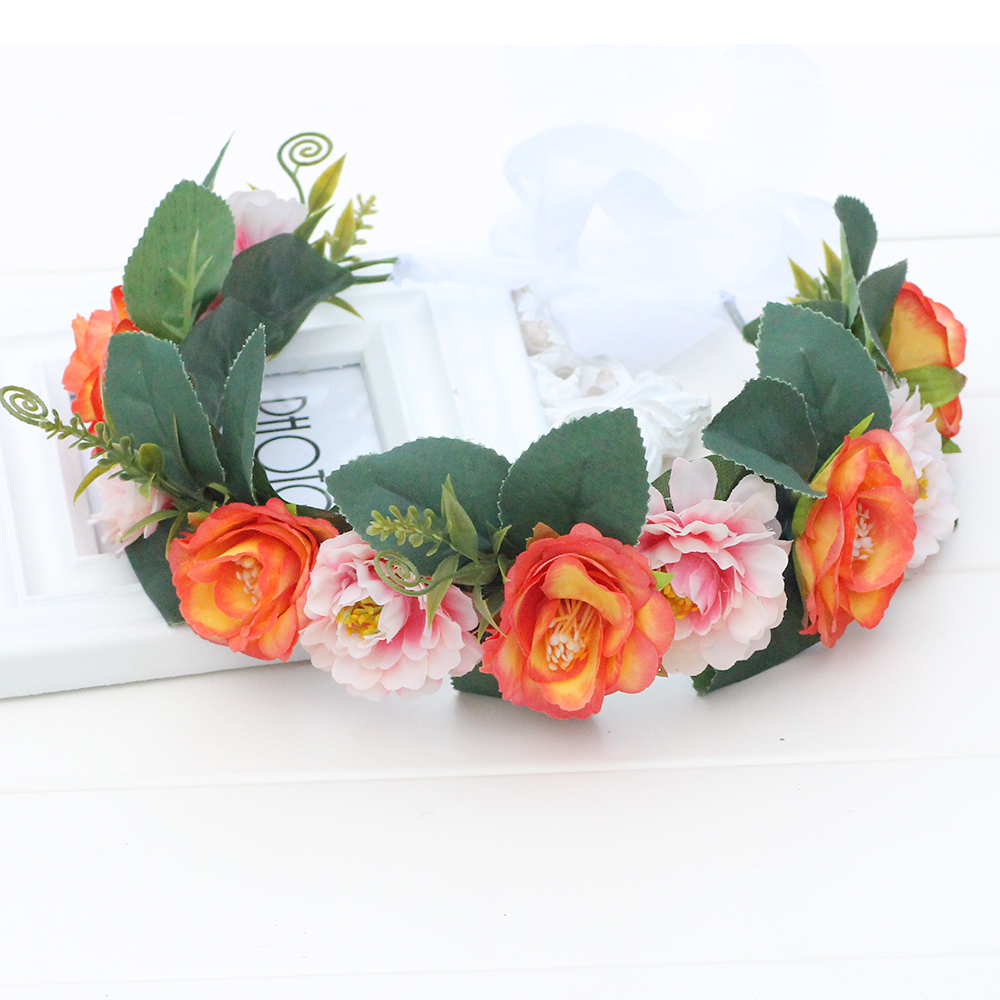 Flowers wreath bridal flower crown headband party flower hairband flowers wreath bridal flower crown headband party flower hairband hair accessories adjustable floral garlands girls princess in hair accessories from izmirmasajfo