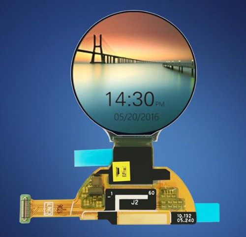Image 2 - 1.2 inch 24P HD AM OLED Color Round Screen AUO W022 ASIC Drive IC 390*390 MIPI+SPI Interface-in LCD Modules from Electronic Components & Supplies