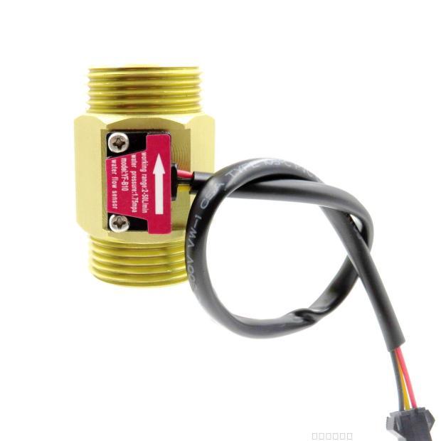 YF-B10 G1 1inch water diesel Brass DN25 Hall effect Turbine flow sensor meter Turbine flowmeter 2-50L/min цена