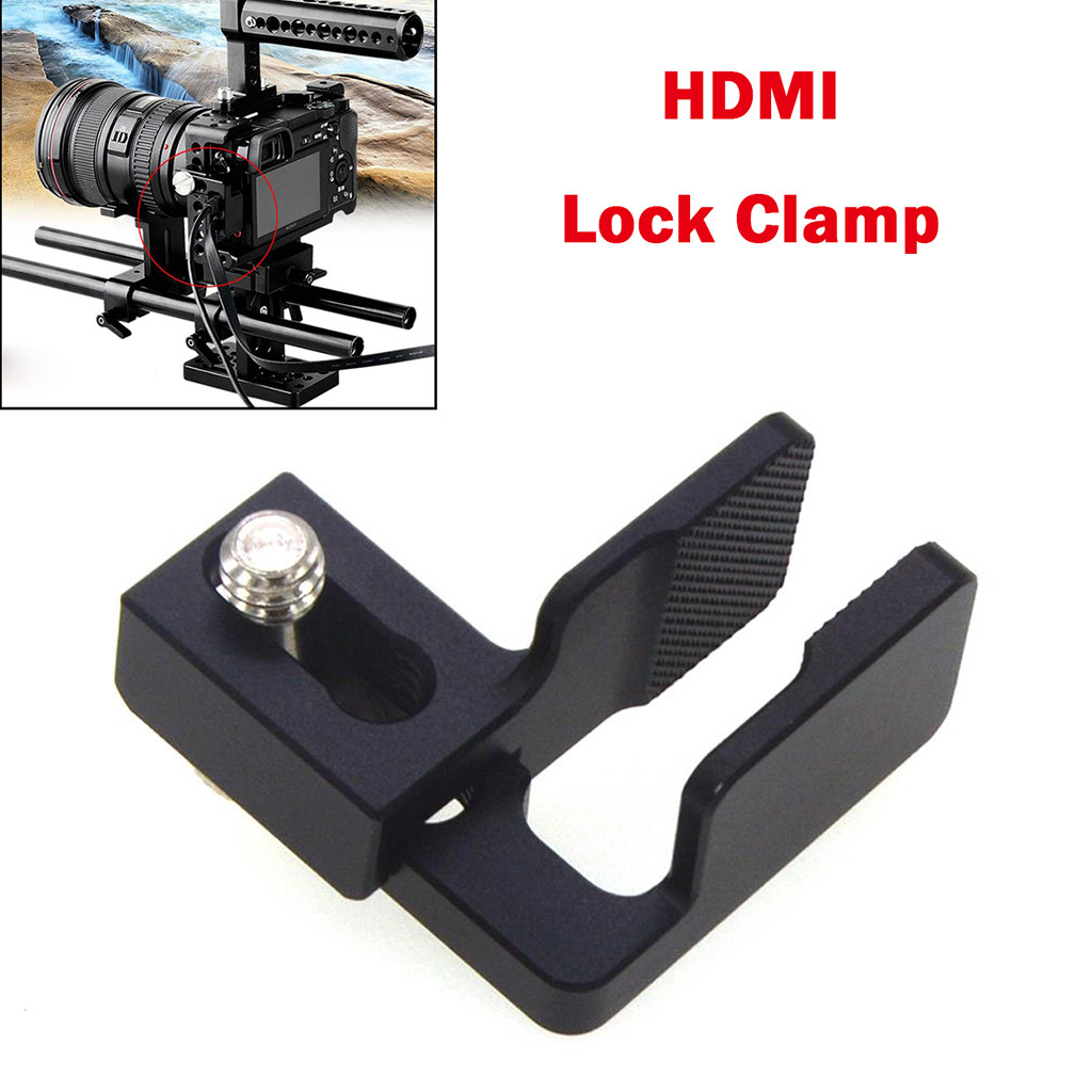 OMESHIN HDMI зажим кабель зажим HDMI замок зажим для sony A6500/A6300/A6000 камера DSLR камера клетка фотография комплект Rig # C0604|Чехлы для экшн-камер|   | АлиЭкспресс