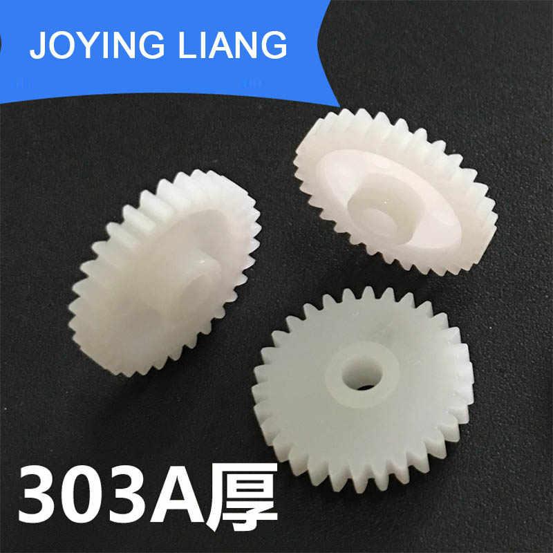 303A Grosso Engrenagens Modular 0.5 Buraco 3mm Apertado 30 16mm de Diâmetro Dente de Plástico Acessórios Do Brinquedo do Disco Engrenagem 10 pçs/lote