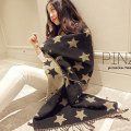 Blanket Scarf Star Pattern Pashmina Fashion Poncho Gifts for Women 200*60cm